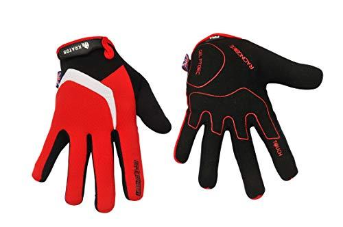 KRATOS Cycling Gloves Full Finger Mountain Bike Gloves Gel Padded Touchscreen MTB racing bicycle BMX for Kids Men Women