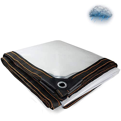 Lona Transparente Lona Transparente Resistente al Agua, Lonas Resistentes al desgarro y a la Lluvia Ideal para Carpa con toldo de Lona (tamaño: 13 x 20 pies)