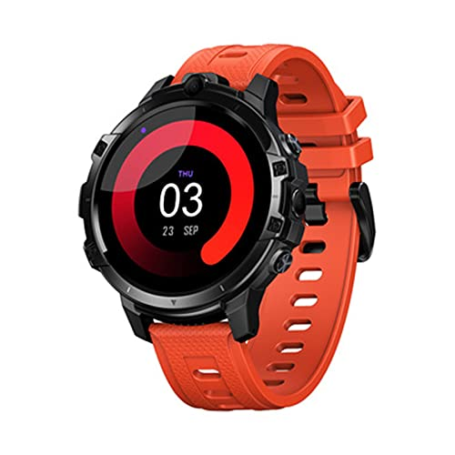 LKM 64 g Men Smart Watch Sport Fitness Pulsera Dual Cámaras GPS con Bank Power 2021 Nuevo Soporte Sim Tarjeta Smart Phone SmartWatch,B