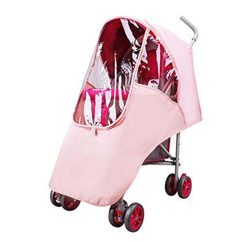 Housse de pluie pour poussette Poussette for enfants pluie poussette parapluie pluie Universel Couverture bébé Chariot coupe-vent Couverture de pluie ( Couleur : Rose , Taille : Taille unique )