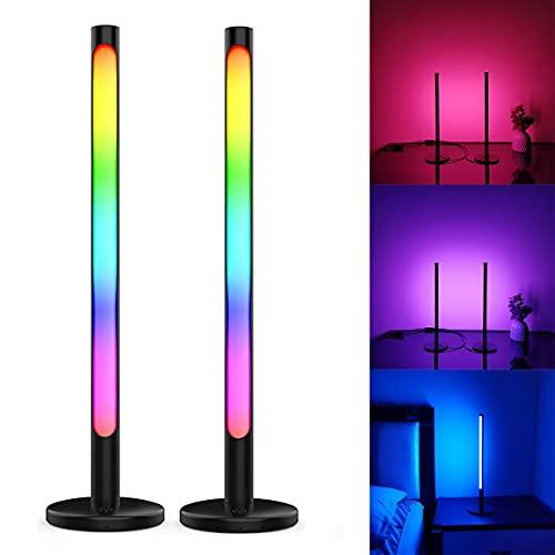 2PCS LED Bar Lights USB Recargable, APP Control RGB Colorful Tube Pickup Rhythm Light Música Atmósfera Ambiente Lámpara Barra para Car Party Computer