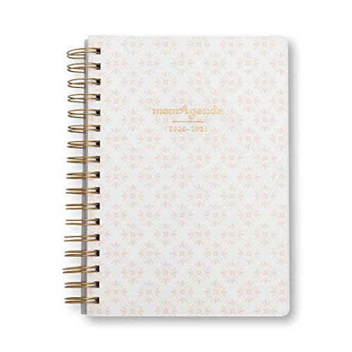 momAgenda Desktop Spiral Day Planner (July 2020 - December 2021) Organize Your Busy Life with The Convenient Week-at-A-View Layout. Quotes Included Each Week for Motivation (Blushing Blooms)