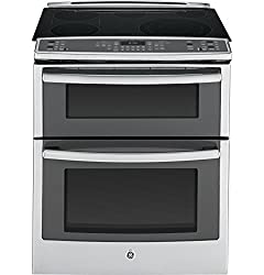 "GE PS950SFSS 30"" 6.6 cu. ft. Capacity Slide-In Double Oven Electric Range In Stainless Steel"