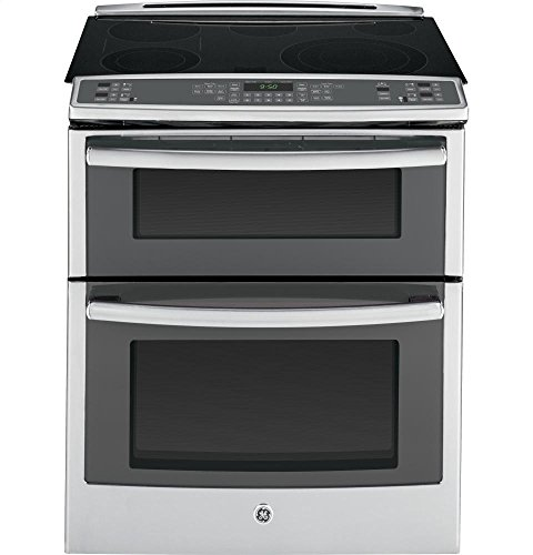 GE PS950SFSS 30' 6.6 cu. ft. Capacity Slide-In Double Oven Electric Range In Stainless Steel