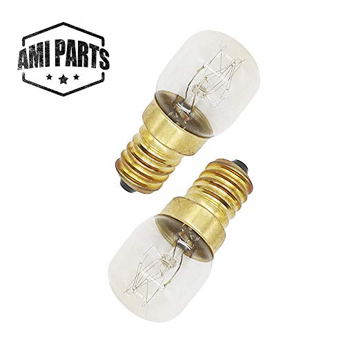 AMI PARTS 4173175 Oven Light 15w 130v Bulb Replacement Part Compatible with Oven(2pcs)