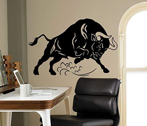 Tier wandtattoo wütend stier wandkunst Aufkleber persönlichkeit Muster wandaufkleber Mode Hause 68 cm x 102 cm