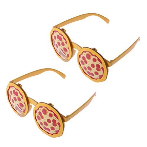 Toyvian 2pcs Party Brille Pizza Brillen Dekor Foto Prop für Partei begünstigt Dekoration