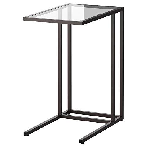 IKEA.. 002.502.49 Vittsjö Laptop Stand, Black-Brown, Glass