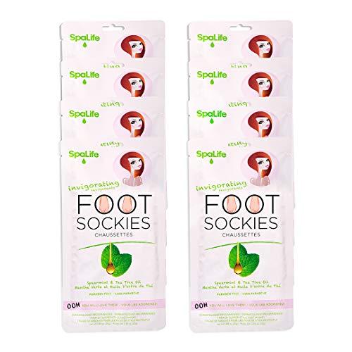 SpaLife Invigorating Spearmint & Tea Tree Oil Foot Sockies