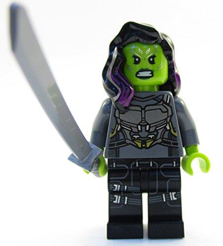 LEGO Genuino Superheroes Gamora Minifigure 2017 Split from 76081 Set (empaquetado)