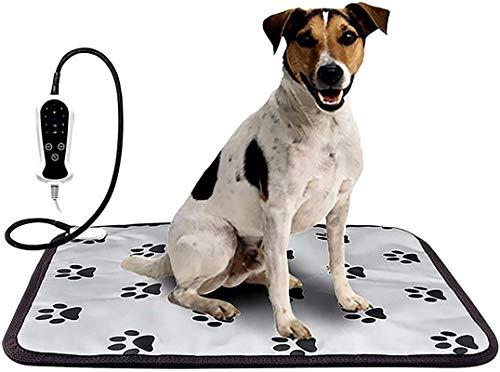 IUYJVR Cama para Mascotas Alfombrilla calefactora para Mascotas Manta calefactora, Pantalla Digital Inteligente de 9 velocidades Manta eléctrica para Mascotas Almohadilla térmica Almohadilla térmic