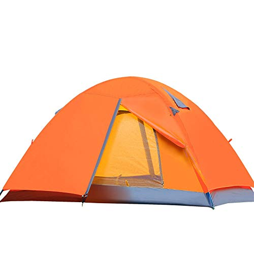Tent Aluminum Pole Tent Wholesale Outdoor Double Double Double Door Rainproof Camping Camping Build Ultralight Outdoor Tent Outdoor camping windproof and shading ( Color : Orange , Size : 2 persons )