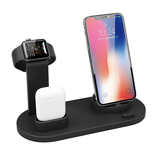 Wireless Charger for Apple Watch, ATETION 3 in 1 Charging Stand Compatible with iWatch Series6/ 5/4/3/2/1, Compatible for AirPods and iPhone 11/Xs/X Max/XR/X/8/8Plus/7/7 Plus /6S Plus