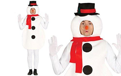 GUIRMA Disfraz de muñeco de Nieve para Hombre, Talla única.