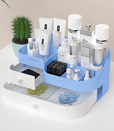 化粧品収納ボックス化粧箱メイクデスクオーガナイザー大容量化粧品オーガナイザースタンドラック化粧品収納オーガナイザー口紅、ブラシ、アイシャドウ,バスルーム,カウンタートップやベッドルーム,バニティドレッサーに適しています