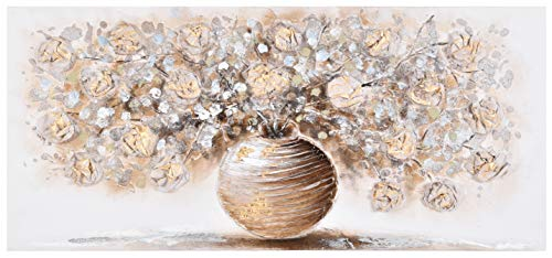 Home Selections FP01281 Gold Flower Painting, 110 x 50 cm