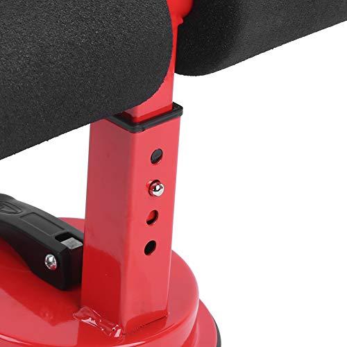 Fitness Situp Aid, Dispositivo de Ayuda para Sentarse, máquina de Ejercicio Muscular roja para Entrenamiento de Fuerza Corporal, Equipo de Fitness, Entusiasta de los Deportes(Red)