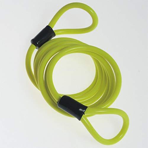 Cable Espiral Reminder antirrobo tipo candado, en acero y revestido goma. amarillo