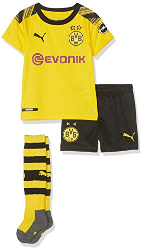 PUMA Kinder BVB Home Minikit Socks Evonik with OPEL Logo Trikot, Cyber Yellow Black, 104