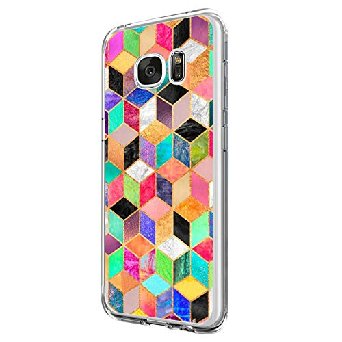 Funda Compatible con Galaxy S6/Galaxy S6 Edge, Funda para Suave Silicon Ultra Slim Fina Protección a Bordes y Cámara Compatible con Galaxy S6 Edge Plus -Transparente (Samsung Galaxy S6 Edge Plus, 7)