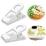 SoundZero 2 pièces 2 en 1 Trancheuse d'oeufs, Coupe-œufs en Acier Inoxydable 304, Plastique...