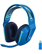 Logitech G733 LIGHTSPEED Wireless Gaming Headset met verende hoofdband, LIGHTSYNC RGB, Blue VO!CE-microfoontechnologie en PRO-G-audiodrivers - BLUE