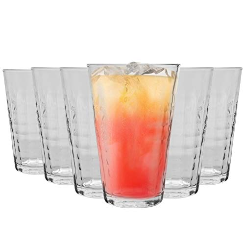 DURALEX Verres à Cocktail Highball Prisme - 300 ML - Transparent - Lot de 12