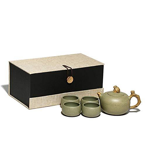 TKG Original 450ml Tetera de Yixing Yixing la Tetera El Kung Fu Chino, Capa de Mineral de Arcilla Verde Juego de té de Yixing,1