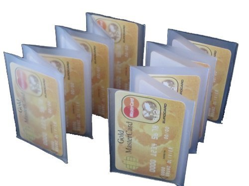 Wallet Inserts Set of 2 Accordian Style Card Picture Holder Rare