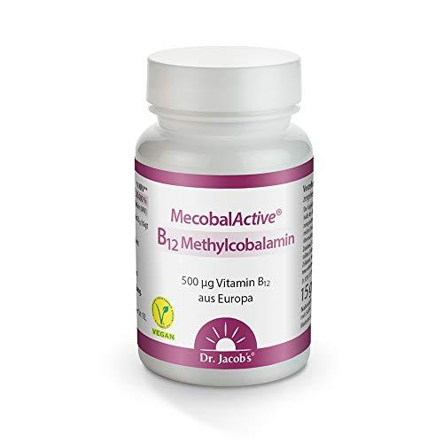 Dr. Jacob's - MecobalActive® - B12 Methylcobalamin - 60 Tabletten