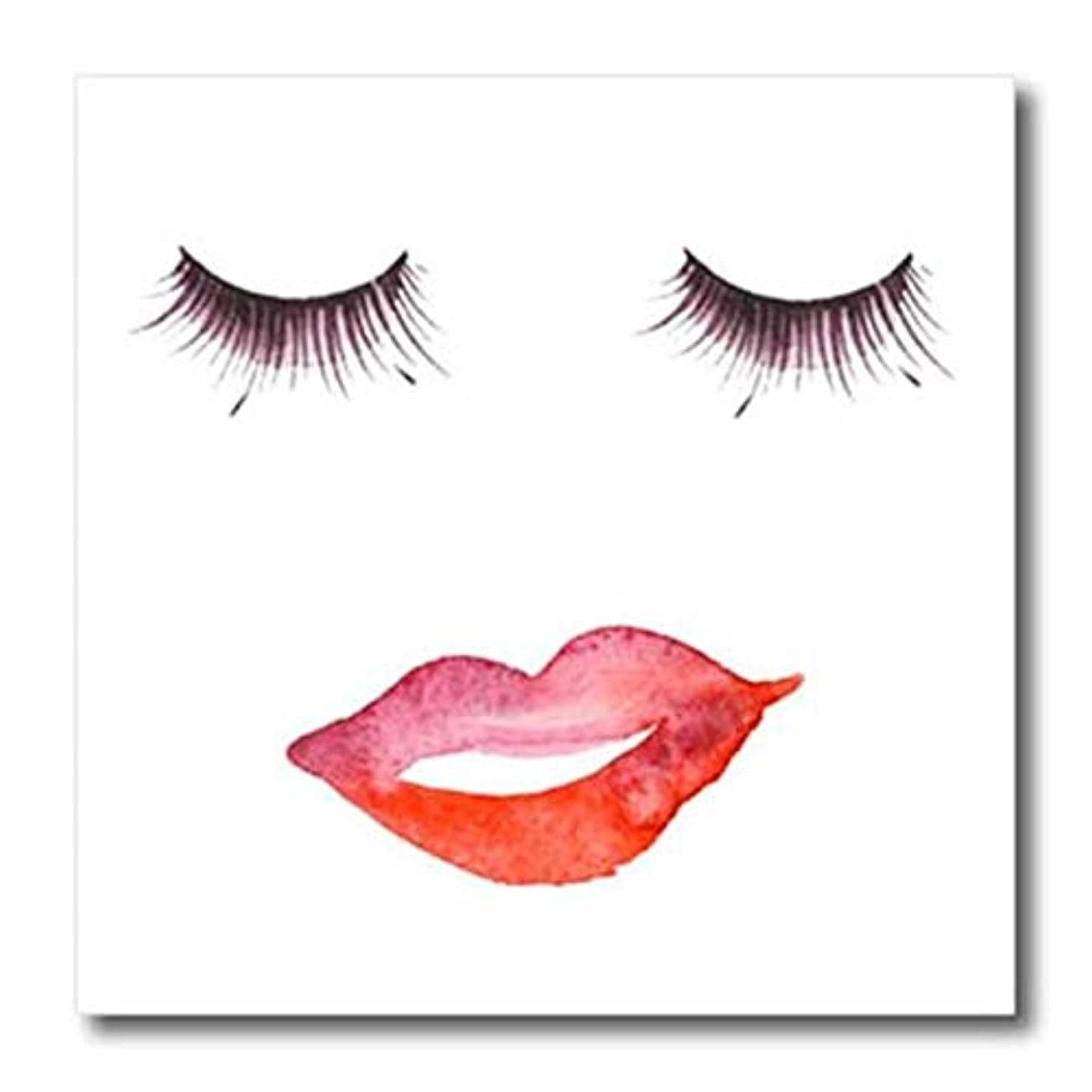 3dRose ht_265795_3 Eyelashes and Lips Transfer Paper 10