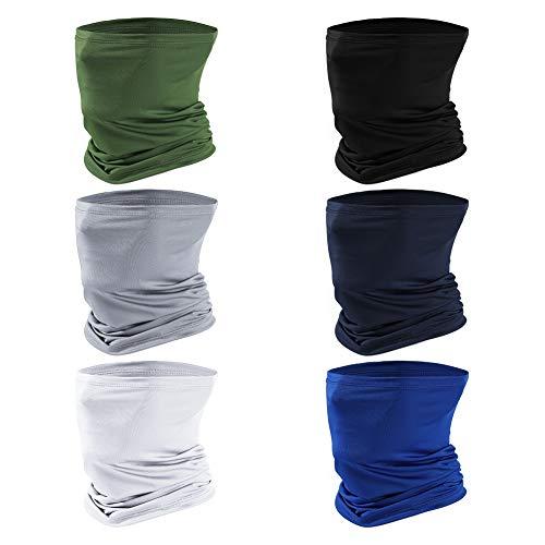 6 Stücks Nahtlose Bandanas, Multifunktionstuch Halstuch Elastiche Schlauchschal Multifunktion Schal Stirnband Gesichtsmaske Kopfbedeckung für Yoga Laufen Radfahren Motorradfahren UV Widerstand