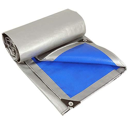 Espesar Azul Plata Impermeabilizante Paño Impermeable Protector Solar Lona Aislamiento al Aire Libre Lona de plástico Cubierta Que Cubre La Lluvia Plástico Paño de la Piscina Pabellón LIUDINGDING