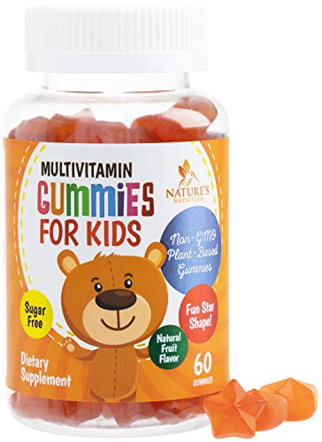 Kids Multivitamin Gummies Extra Strength - Natural Complete Daily Supplement - Sugar Free Multi with Vitamins A, C, E, B6, B12, Zinc Natural, for Boys and Girls, Non-GMO - 60 Gummies