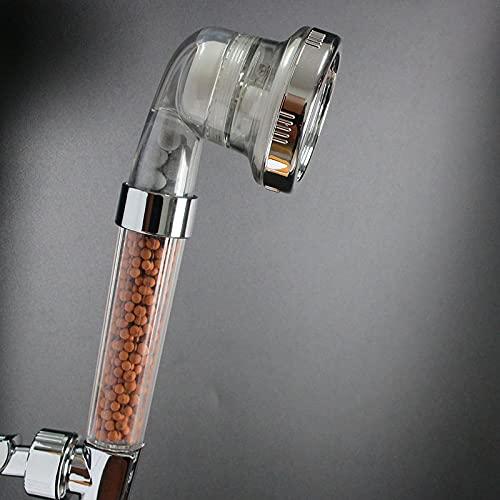 PlatinProduct Duschkopf Handbrause wassersparend mit Druckerhöhung für mehr Wasserdruck - Regendusche und Massage einstellbar