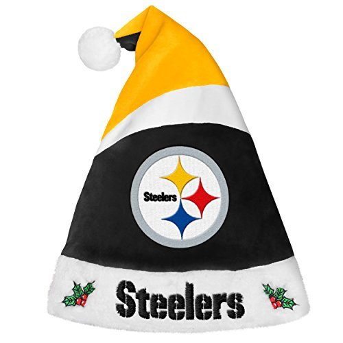 Forever Collectibles 9016323904 Pittsburgh Steelers Basic Santa Hat – 2016 by Forever Collectibles
