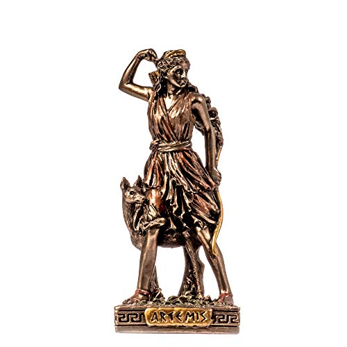 Artemis Diana Griechische Göttin der Natur Miniatur Kaltguss Bronze Statue Figur 8.7cm