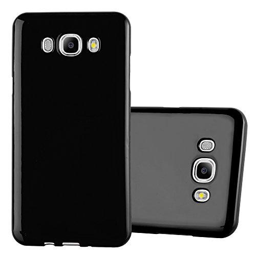 Cadorabo Hülle für Samsung Galaxy J7 2016 in SCHWARZ - Handyhülle aus flexiblem TPU Silikon - Silikonhülle Schutzhülle Ultra Slim Soft Back Cover Case Bumper