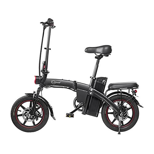 DYU Bici Elettrica Pieghevole,Ebike con ruote da 14 Pollici,Bicicletta Elettrica 350W con Pedalata Assistita,Bicicletta Elettrica Adulto con Batteria 48V 7.5Ah,3 Modalità di pedalata