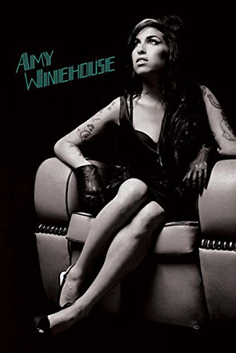 Close Up Poster Amy Winehouse Lounge Chair (61cm x 91,5cm) + 2 tringles Noires avec Suspension