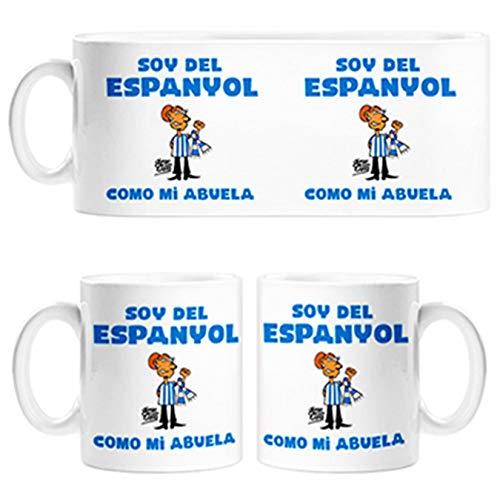 Diver Tazas Taza Soy del Espanyol como mi Abuela ilustrado por Jorge Crespo Cano - Cerámica