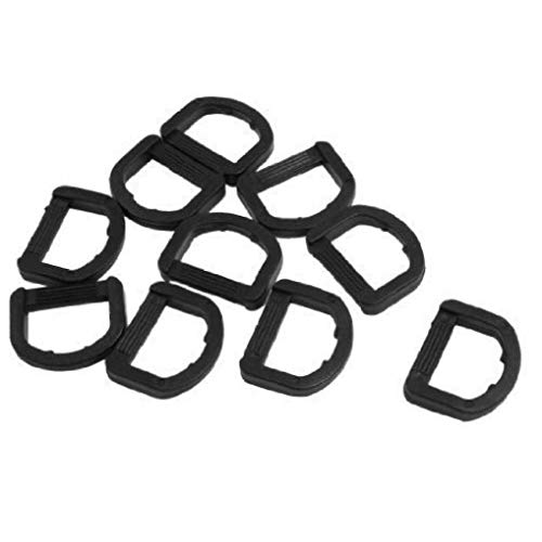 Onsinic 10 Pcs Plastic D Ring Buckle Adjustable Fastening Loop Blinds Webbing Strap for Luggage Strap Pet Collar Backpack
