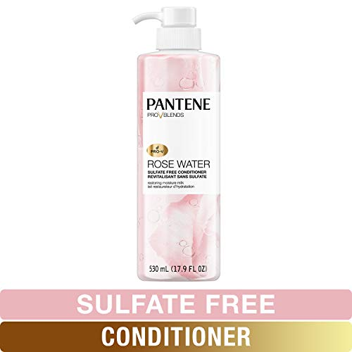Price comparison product image Pantene Sulfate Free Conditioner,  Paraben and Dye Free,  Pro-V Blends Soothing Rose Water,  17.9 fl oz