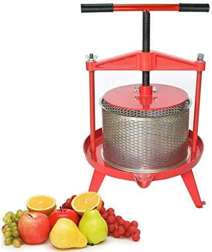 Spindel Obstpresse Apfelpresse Fruchtpresse 9 L aus Edelstahl mit T-Griff für Selbst Gemachten Natürlichen Saft, Traube, Beere, Apfel, Fruchtpresse Weinpresse inklusive Kostenlos Pressnetz