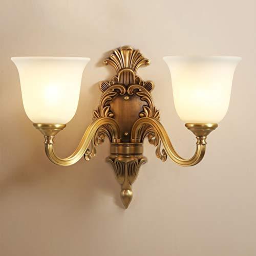 Applique murale en laiton rustique antique allumant un abat-jour en verre blanc en albâtre, applique murale décorative pour appareil d'éclairage pour le couloir de la chambre à coucher A+