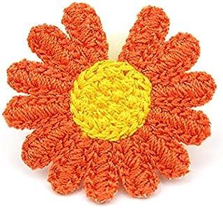 CDYEGSJ 20pcs 4.5cm Daisy Fleur Appliques for bébés Crafts Headwear Accessoires DIY Cassette de décoration de la décoratio...