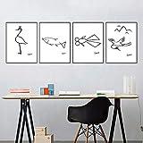 Pablo Picasso Leinwanddrucke Malerei Tier Linie Kunst