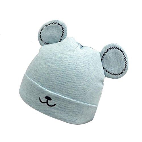 topgrowth Gorro niña de Invierno Chica Crochet Sombrero de Punto de niño cálido Gorro de Doble pompón de Pelo de Niños Unisex B Talla única