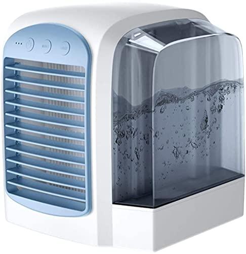 Getting Better Aire Acondicionado Portátil, Ventilador Enfriador De Aire por Evaporación USB con 3 Vientos Luz Nocturna Humidificador De Refrigeración por Aire 3 En 1 para Acampar En La Oficina,C