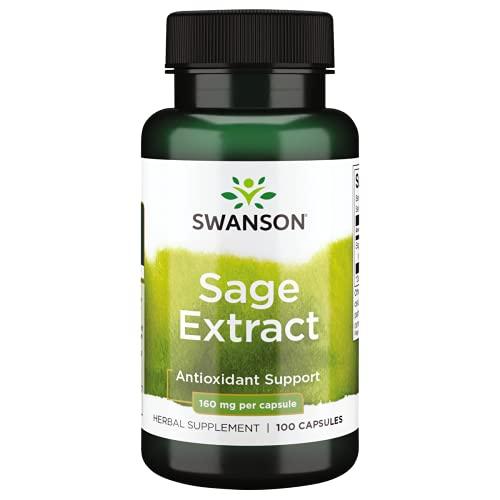 Swanson Sage 10:1 Extract 160 Milligrams 100 Capsules